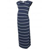 Дълга рокля от органичен памук с къс ръкав за бременни Mamalicious 25784