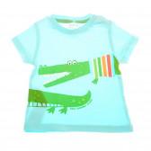 Памучна тениска за бебе момче Boboli 25954
