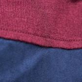 Двуцветна плетена рокля с дълъг ръкав и полуполо Benetton 25977 3
