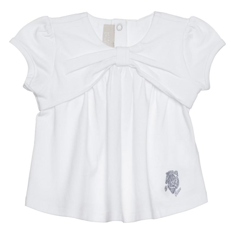 Памучна тениска за бебе, бяла  266395