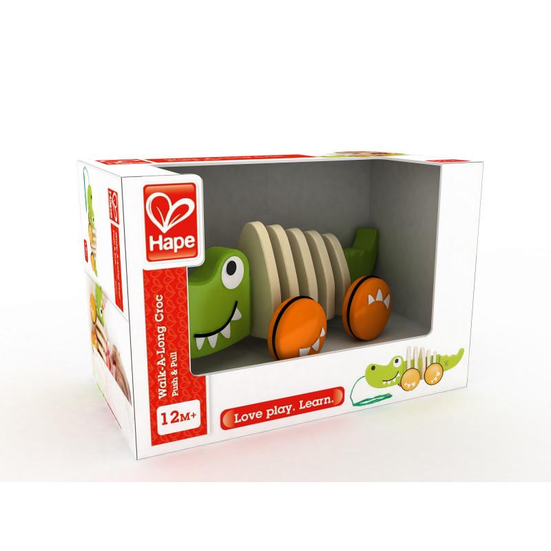 Дървена играчка за дърпане - Крокодил  266521