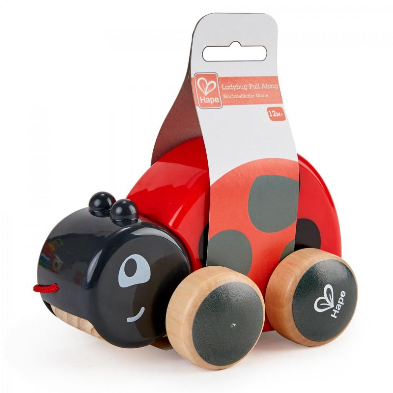 Дървена играчка за дърпане - Калинка  266525