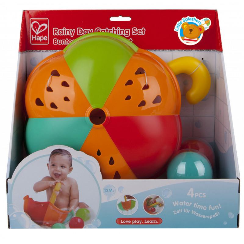 Играчка за баня - Разноцветен чадър с топки  266535