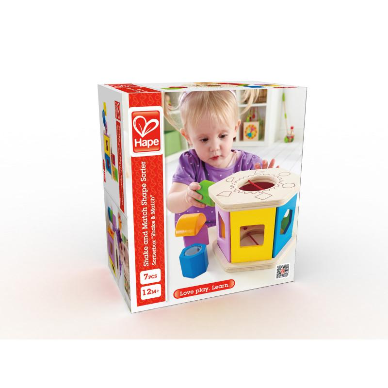 Дървена играчка с форми за сортиране  266548