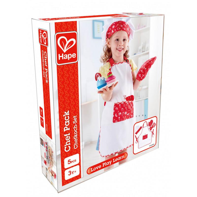 Готварски комплект - Престилка с шапка, ръкавици и ръкохватка  266571