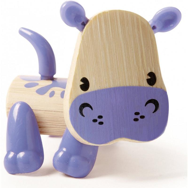 Мини животинка от бамбук - Хипопотам  266589
