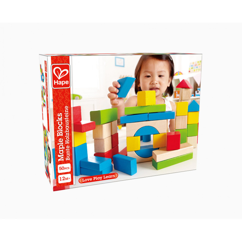 Комплект дървени кубчета 50 бр.  266599