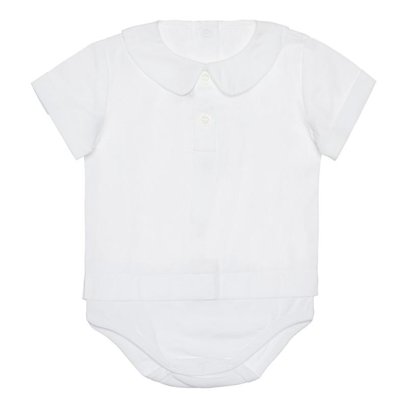 Памучно боди-риза за бебе, бяло  266827