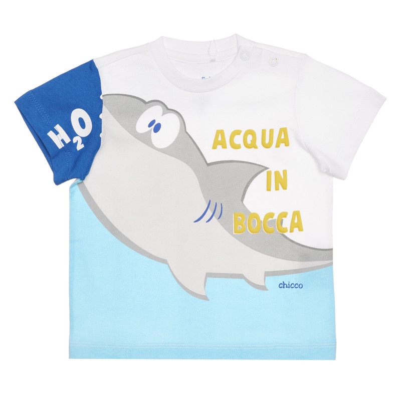 Памучен комплект от две части с акула за бебе  266959