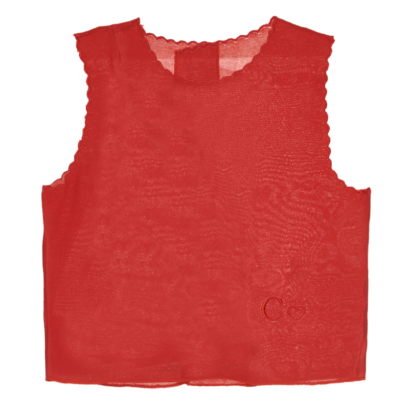 Копринен червен елек за бебе  266973