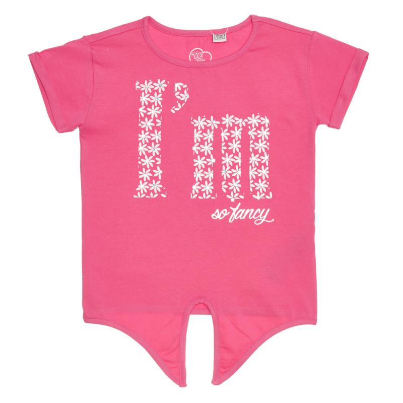 Памучна тениска, розова  267040
