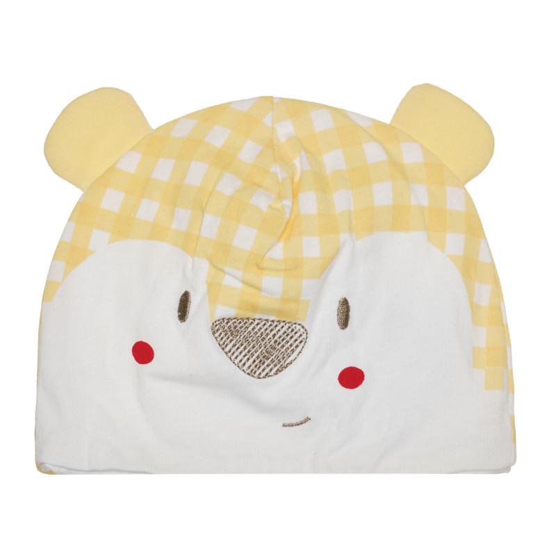 Шапка за бебе в бяло и жълто  267182