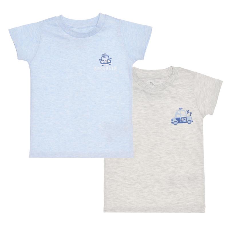 Памучен комплект от два броя тениски TAXI за бебе  267298