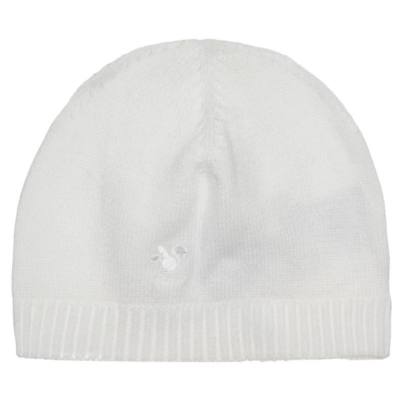 Памучна шапка за бебе, бяла  267311