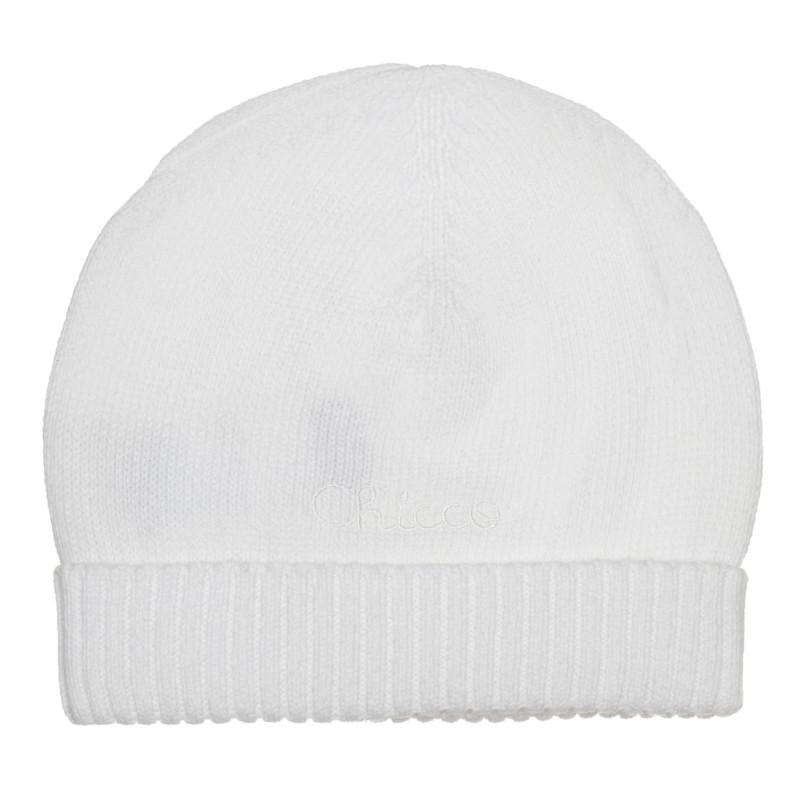 Памучна шапка за бебе, бяла  267327