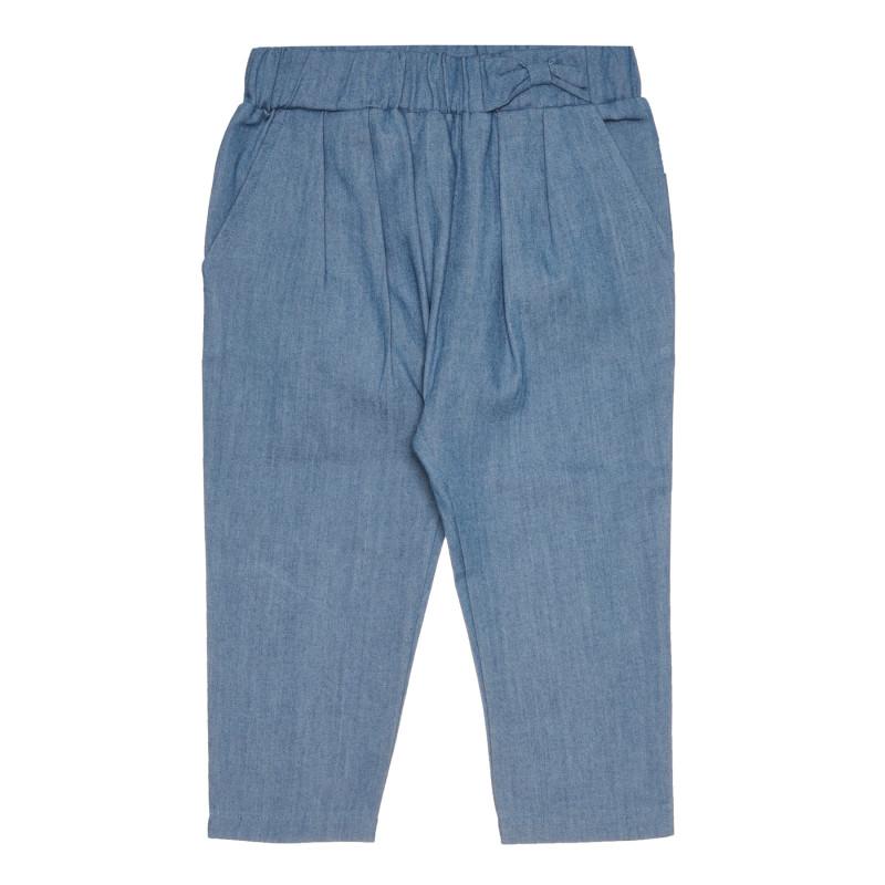 Дълъг памучен панталон, син  267427
