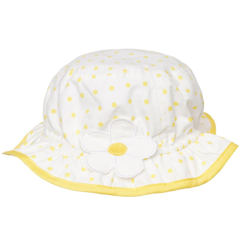 Шапка за бебе на жълти точки  267437