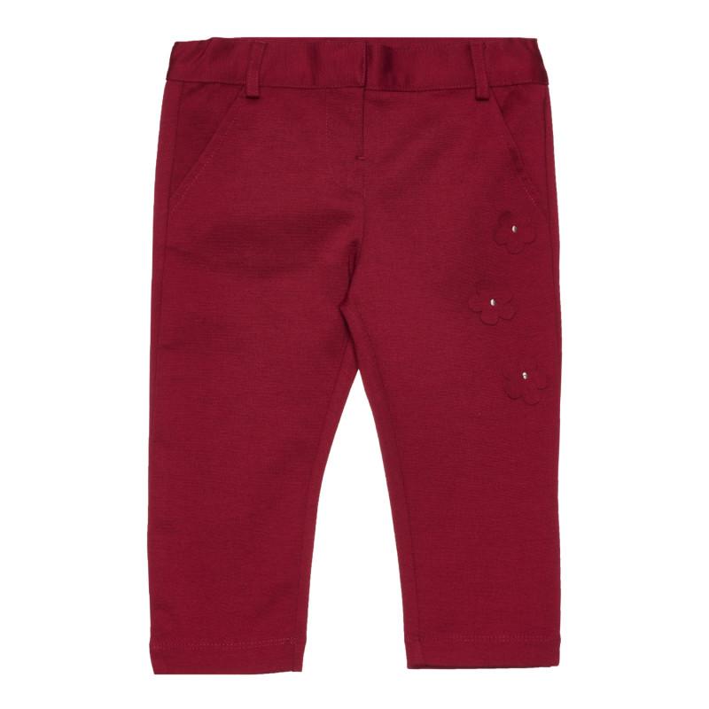 Панталон за бебе с декорация, червен  267451