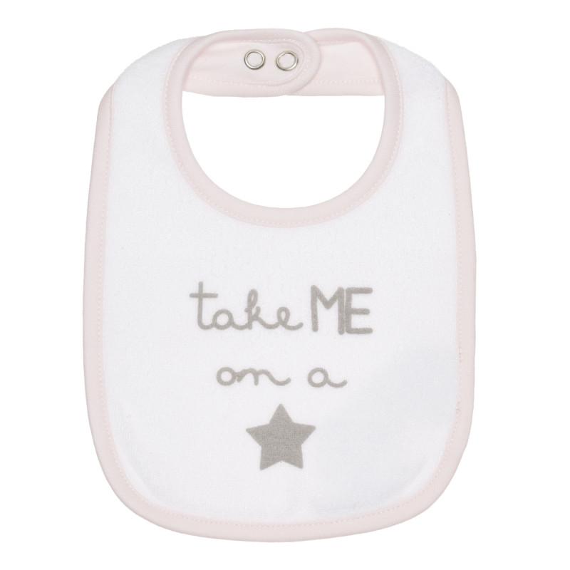 Лигавник за бебе в бяло и розово  267498