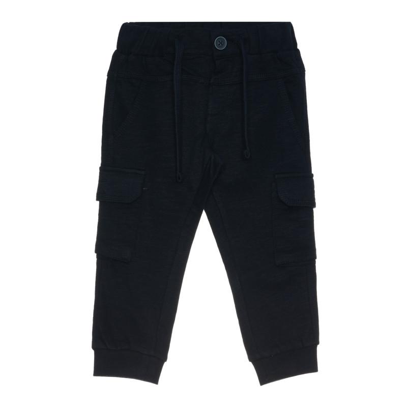 Памучен панталон за бебе, син  267509
