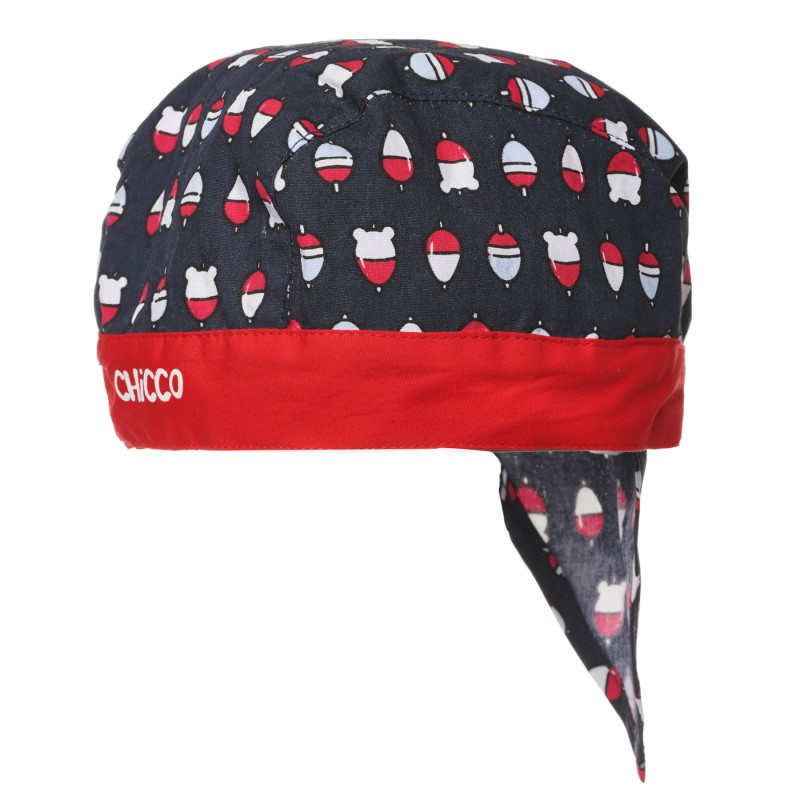 Кърпа за глава за бебе в сиво и червено  267528