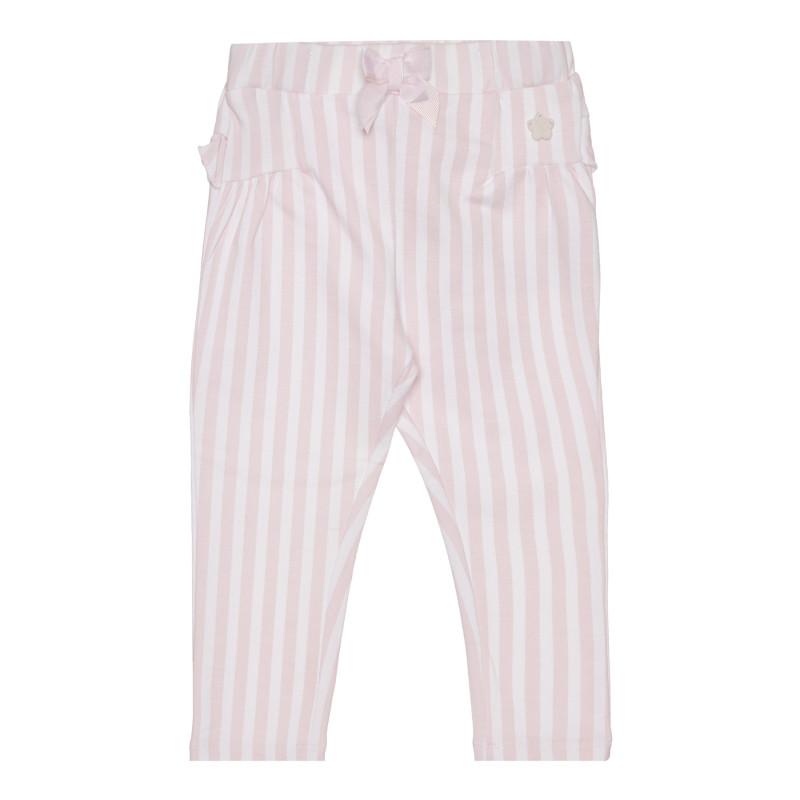Памучен панталон за бебе на райе  267531
