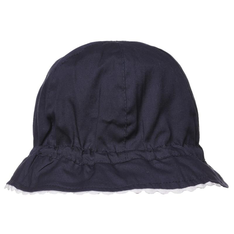Двулицева шапка за бебе, в синьо и бяло  267543