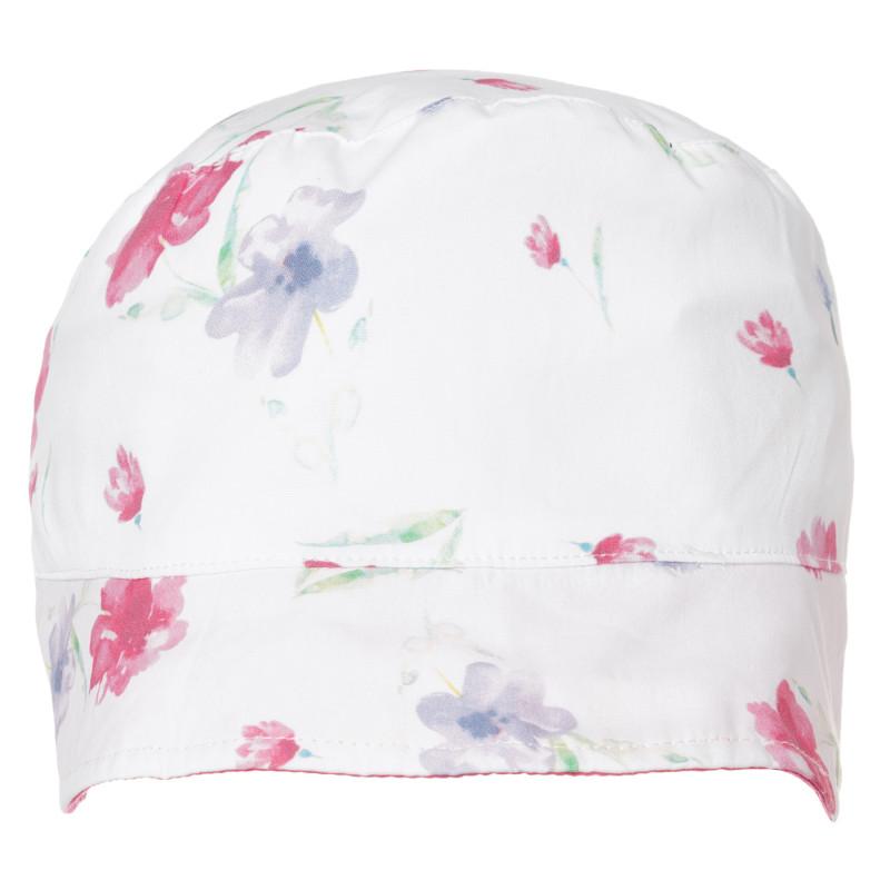 Двулицева шапка за бебе с флорален принт  267546