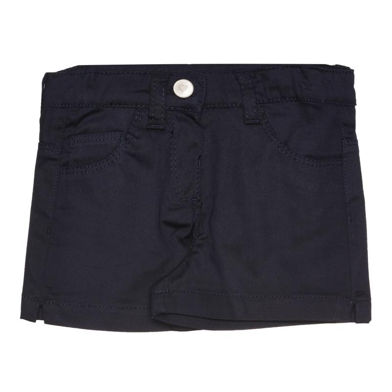 Памучен къс панталон за бебе, тъмносин  267576