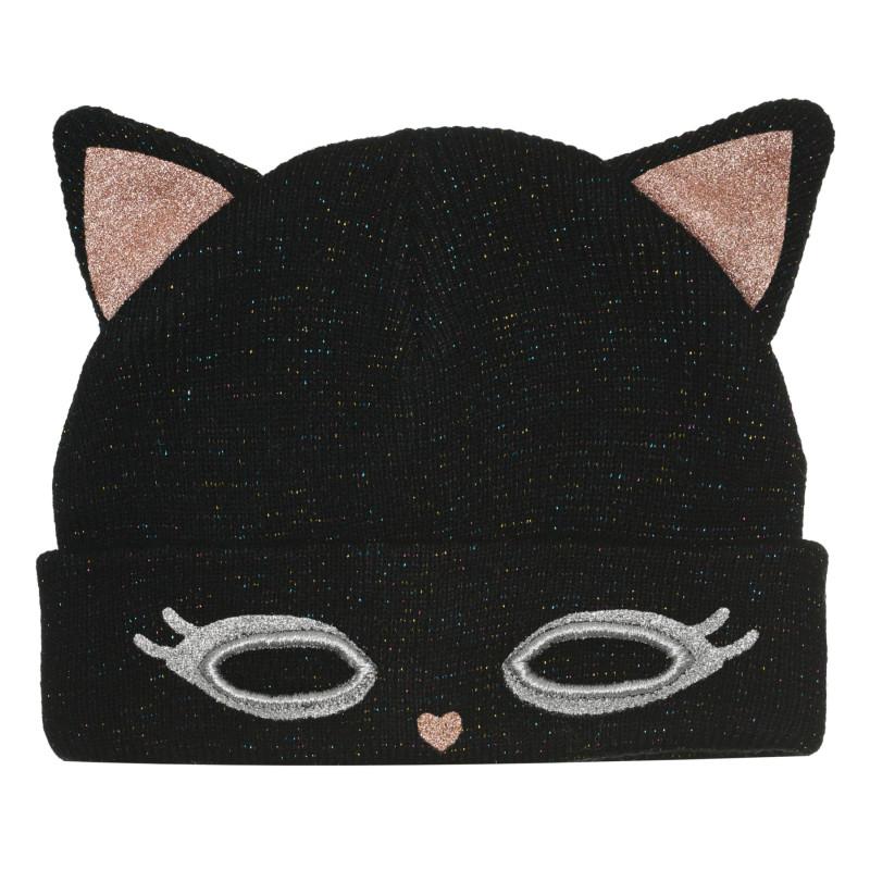 "Шапка ""kitty"", черна  267638"