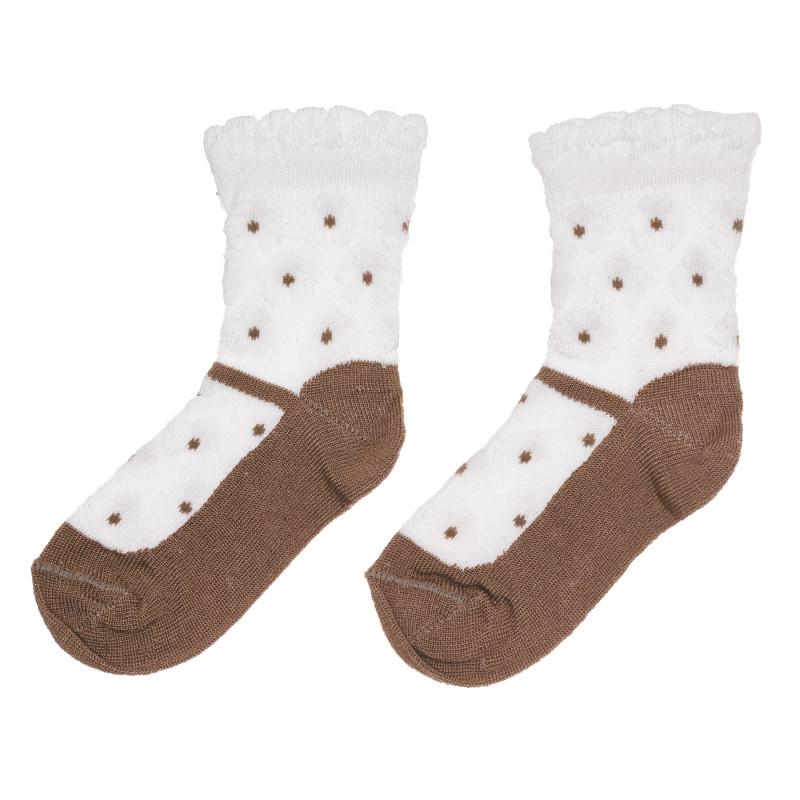 Памучни чорапи на точки за бебе  267806