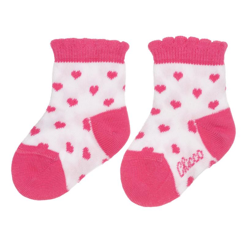 Чорапи на сърца за бебе, бели  267814