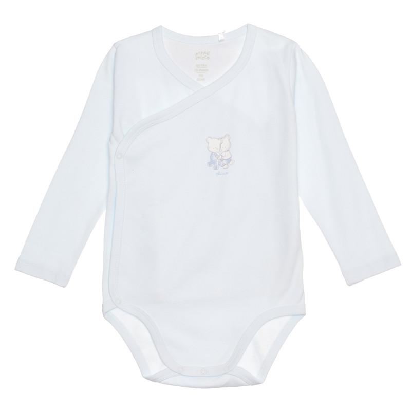 Памучно боди с мечета за бебе, синьо  267816
