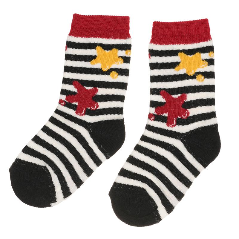 Раирани чорапи със звезди за бебе  267820