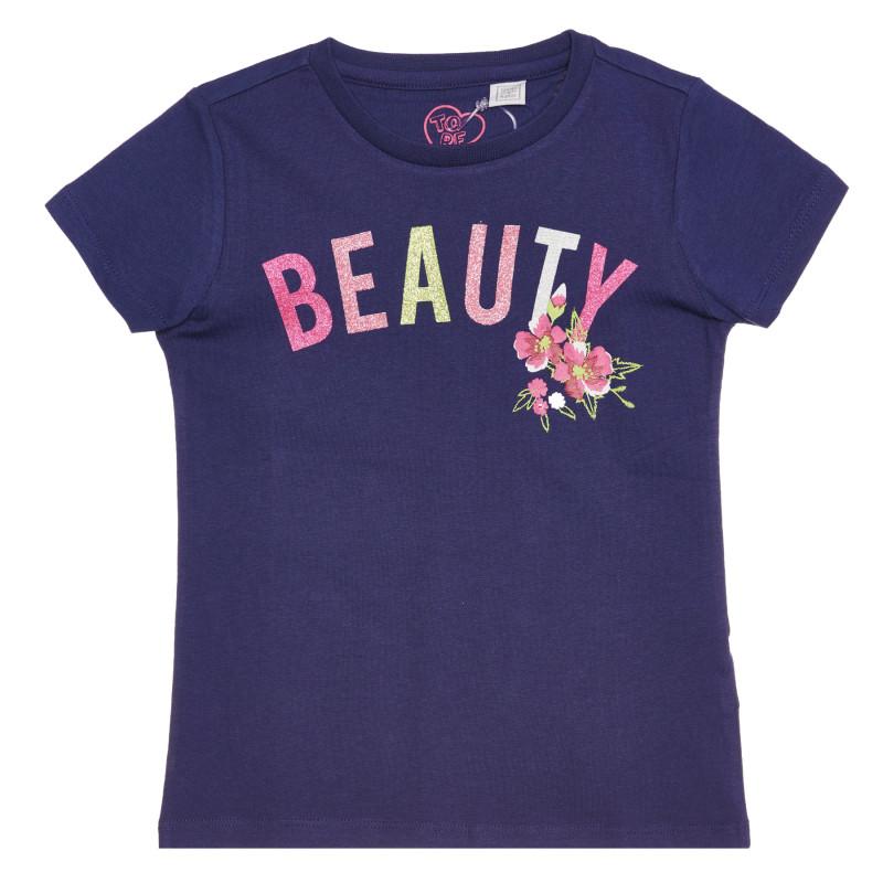 Памучна тениска BEAUTY , синя  267837