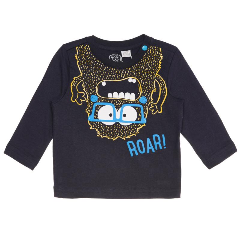 Памучна блуза ROAR за бебе, синя  267857