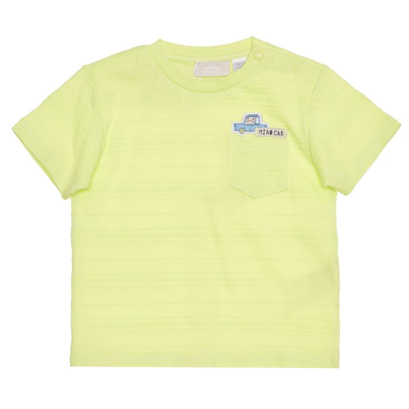 Памучна тениска за бебе, зелена  267914