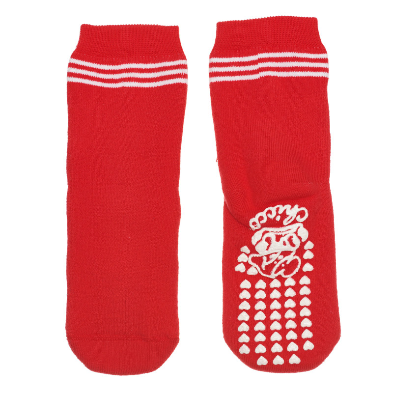 Памучни чорапи, червени  267943