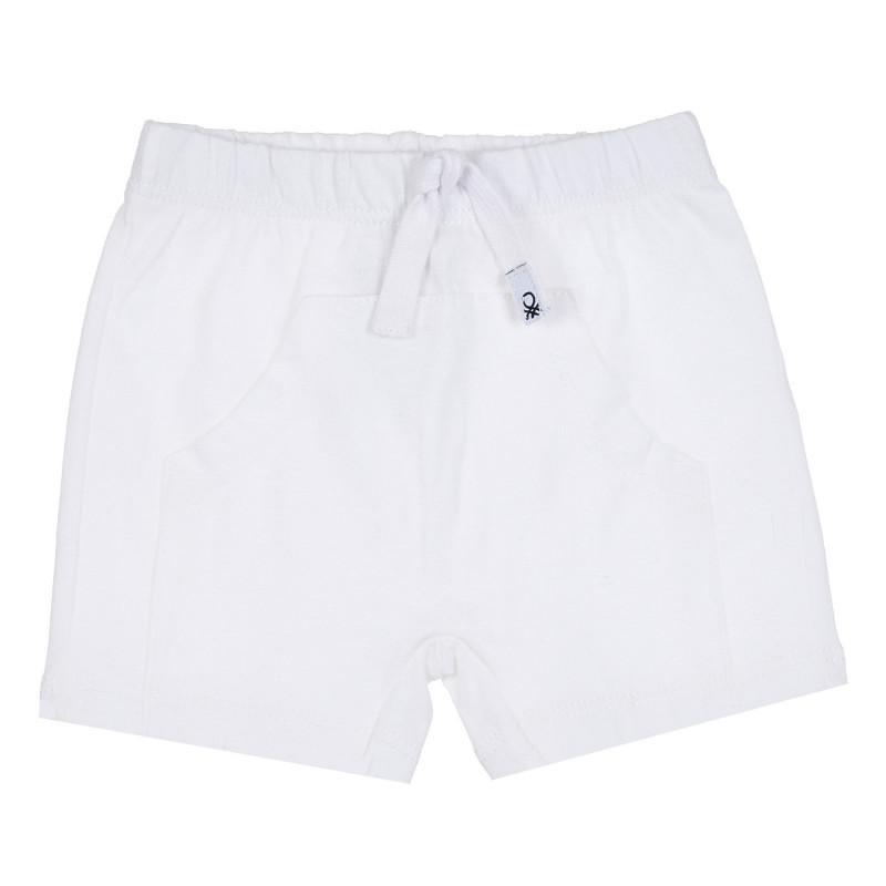 Памучен къс панталон за бебе, бял  268080
