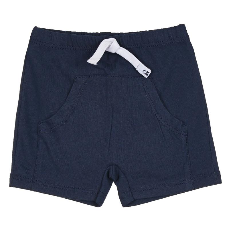 Памучен къс панталон за бебе, тъмносин  268091