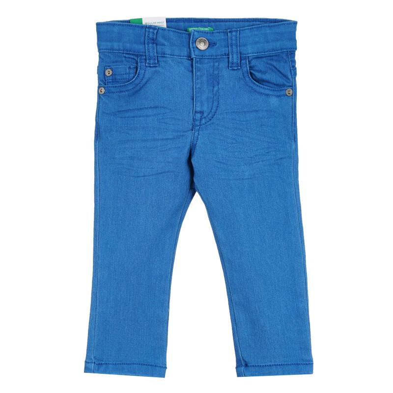 Дънки с логото на бранда за бебе, сини  268181