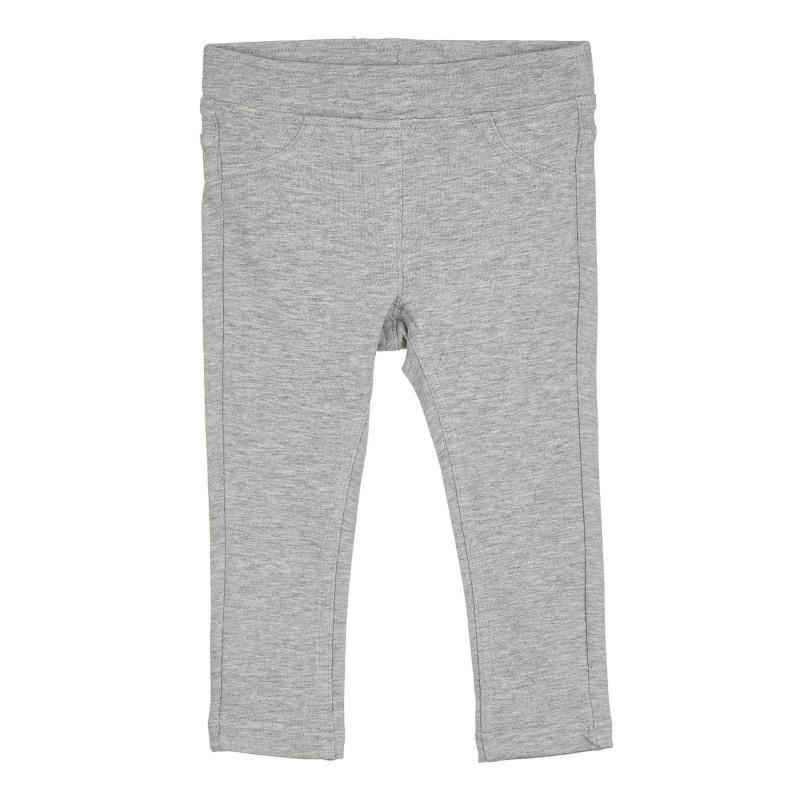 Памучен втален панталон с логото на бранда, сив  268212