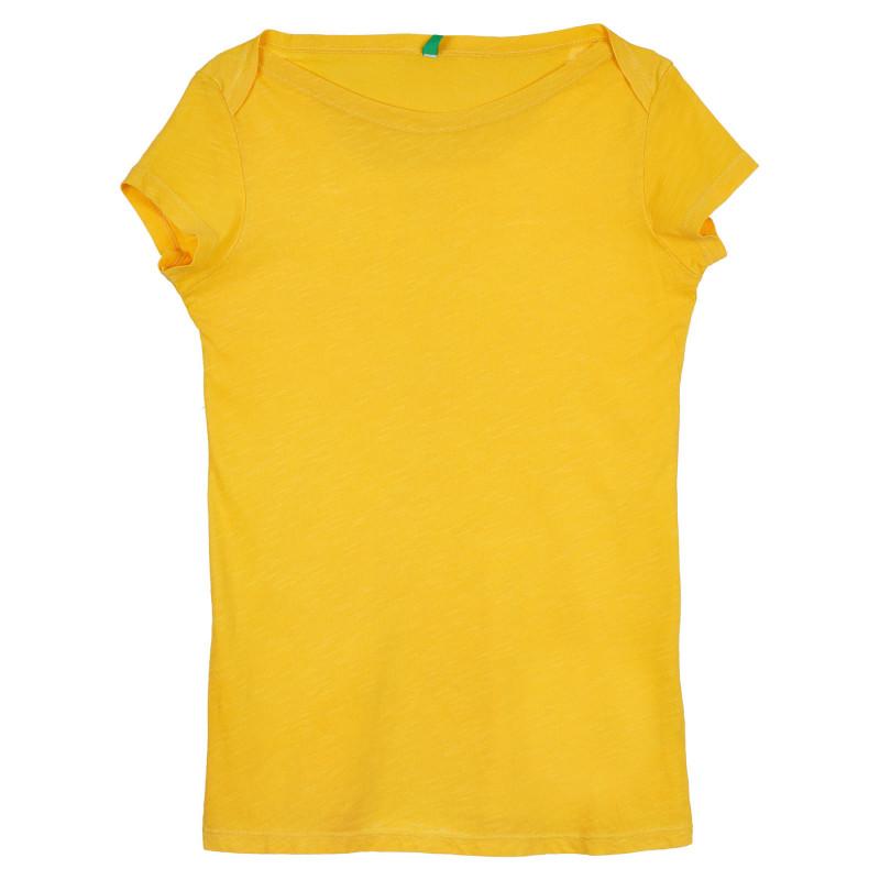 Памучна тениска, жълта  268299