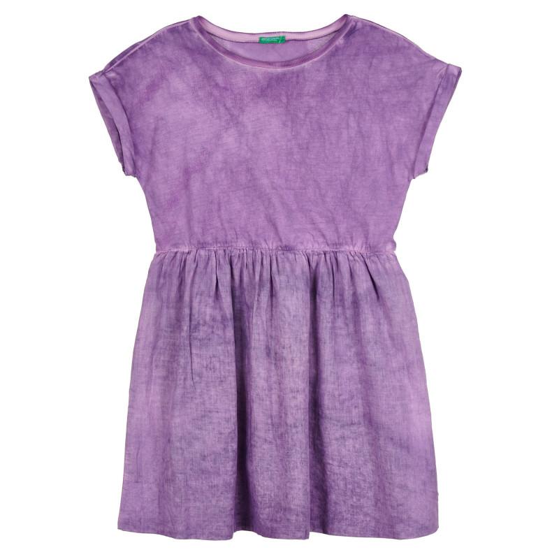 Памучна рокля с износен ефект, лилава  268467