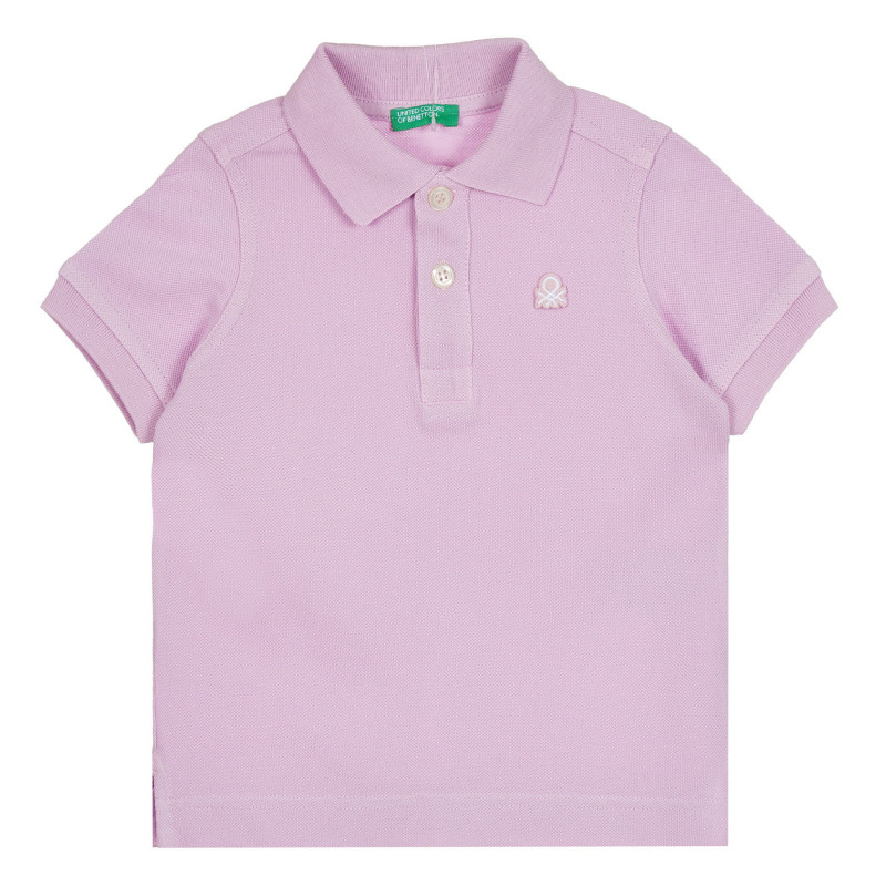 Памучна блуза с къс ръкав за бебе, лилава  268495