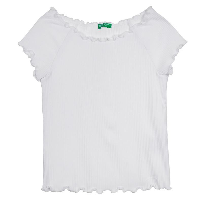 Рипсена тениска, бяла  268517