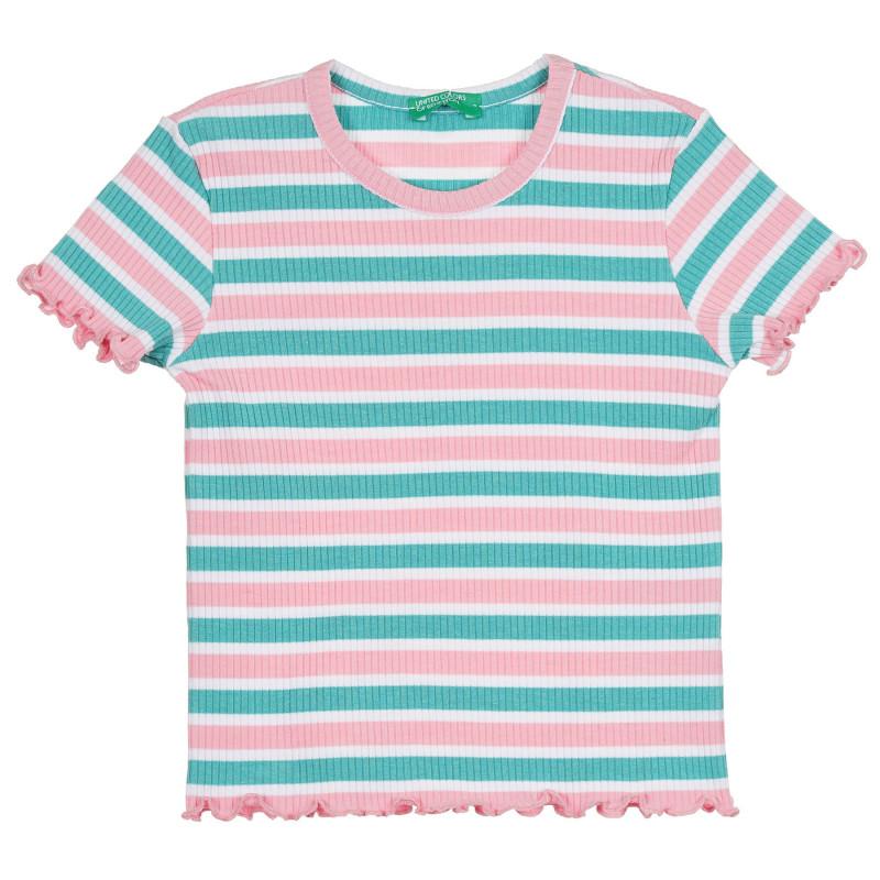 Раирана рипсена тениска за бебе, многоцветна  268520