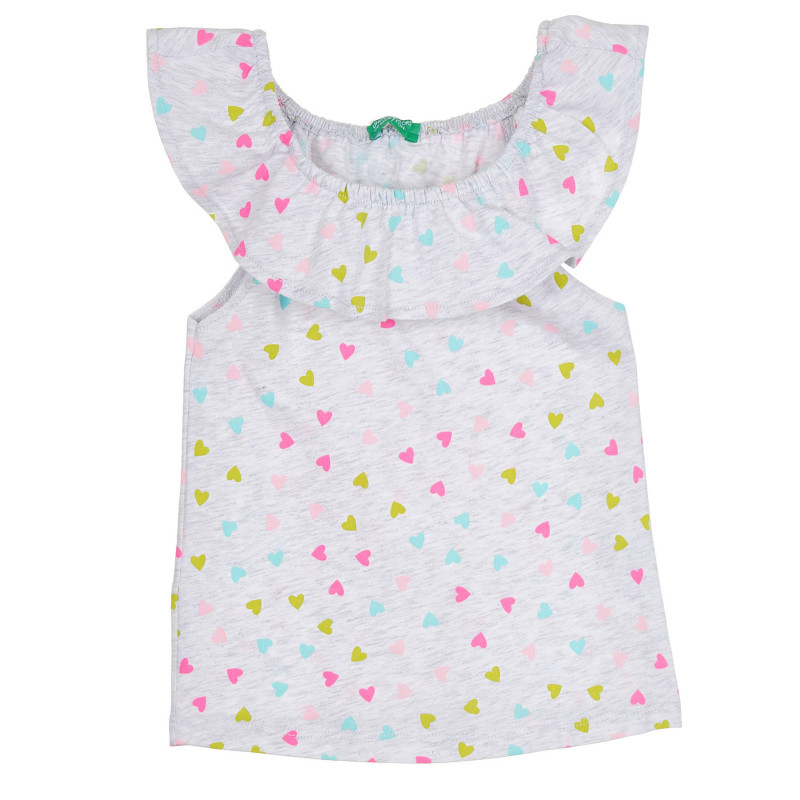Блуза с фигурален принт, светлосива  268550
