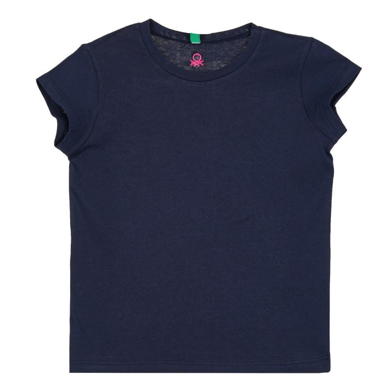 Памучна тениска, тъмносиня  268664