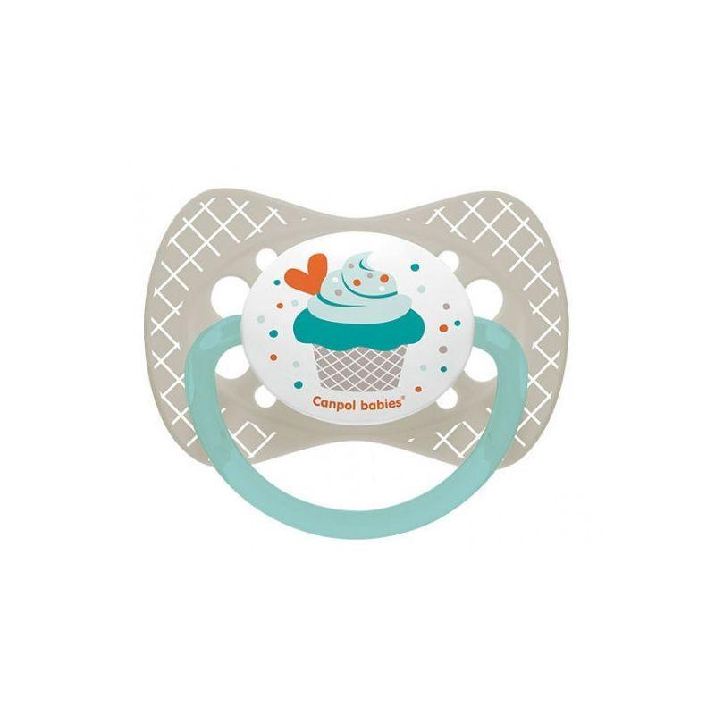 Биберони тип залъгалка Cupcake 6-18м, сив  268724